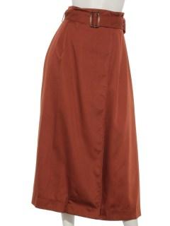 ベルト付トレンチ風ロングスカート