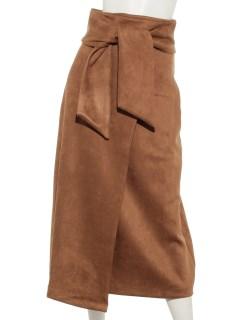 ウエストリボンボンディングスエードスカート