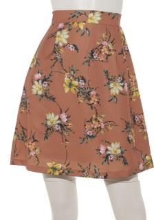 花柄台形スカート