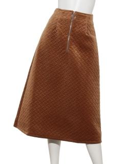フロントジップ台形ロングスカート