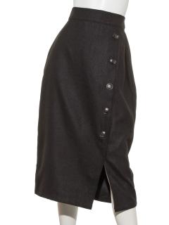 ラップ風ボタン付きタイトスカート