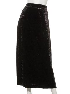 クラッシュベロアロングスカート