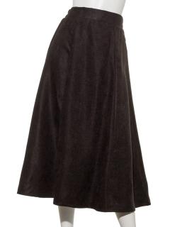 バックボタン付きフレアスカート