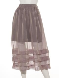 オーガンジースカート