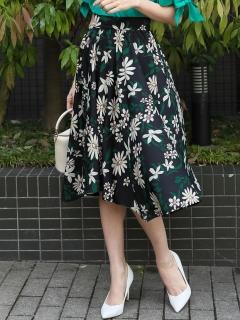 花柄イレヘムスカート