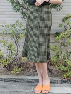 ギンガムマーメイドスカート