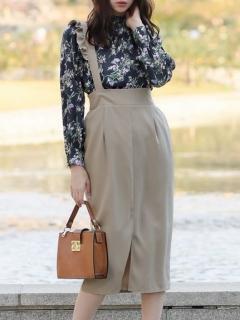 フリルサス付きタイトスカート