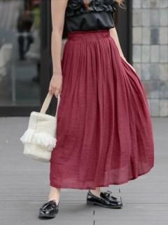 スラブロングギャザースカート