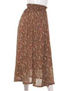 花柄シャーリングセットアップスカート