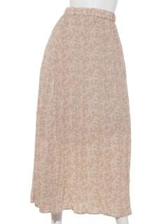フラワープリントクリンクルプリーツスカート