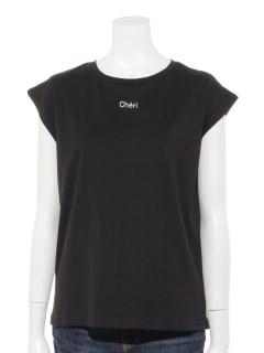 コットン100ロゴプリントフレンチTシャツ
