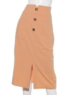 フロントボタンポケットタイトスカート