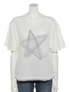 星柄プリントTシャツ