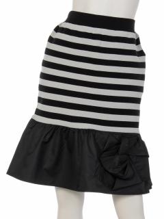 ローズモチーフニットスカート