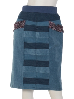 ツイード使い切替スカート