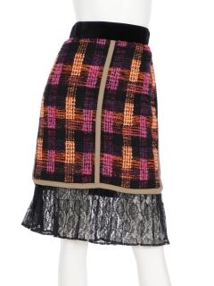 プリーツレース使いスカート