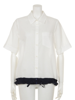 裾ドロストクレリックシャツ