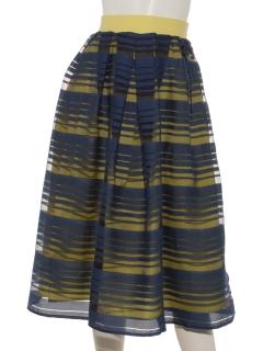 ボーダーリバーシブルスカート