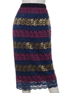 刺繍ペンシルスカート