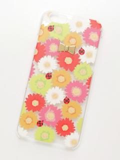 フラワーてんとう虫iPhone6/6Sクリアケース