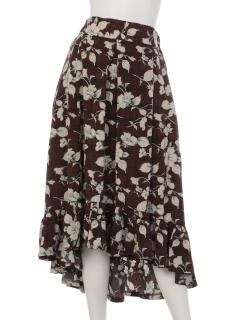 裾フリルヘムスカート