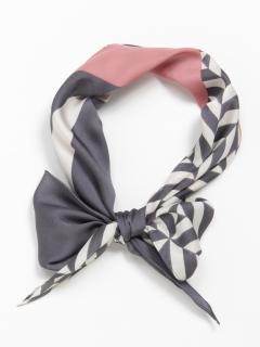 菱形幾何学プリントスカーフ