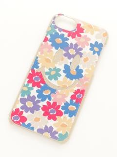 スマイルフラワーiPhone6/7ラメケース