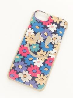 スマイルフラワーiPhone6~8ラメケース
