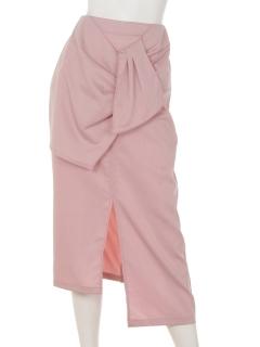 フロントリボンデザインタイトスカート