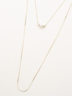 シェルパール2連ネックレス