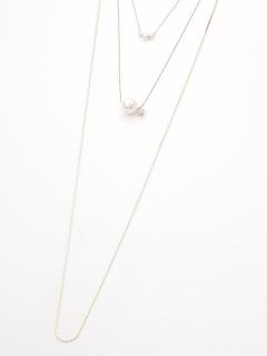 シェルパール3連ネックレス