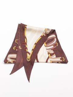 ベルト柄菱形スカーフ