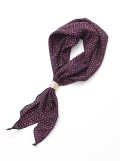変形ドット柄リング付きスカーフ