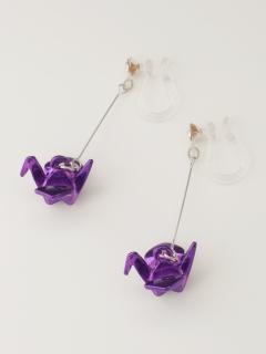 オリヅル樹脂ノンホールピアス