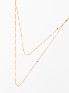デザインチェーン2連ネックレス
