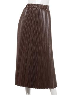 【URBAN HYMUS】アコーディオンプリーツフェイクレザースカート