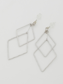 ダブルダイヤフレーム樹脂ピアス