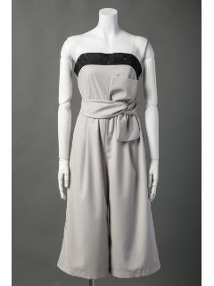 ベアトップパンツドレス
