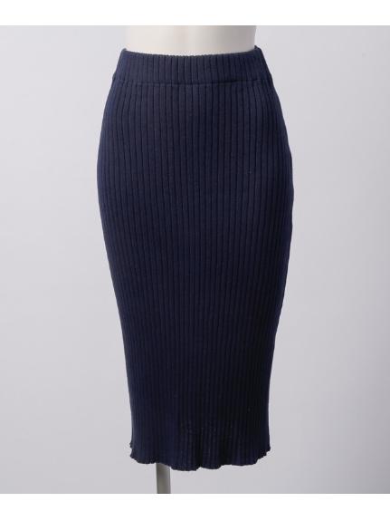 Ingenu Ange (アンジェニューアンジュ) リブニットタイトスカート ネイビー