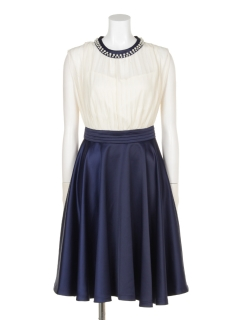 シャドーストライプドッキングドレス