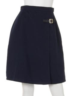 ベルト付巻き風スカート