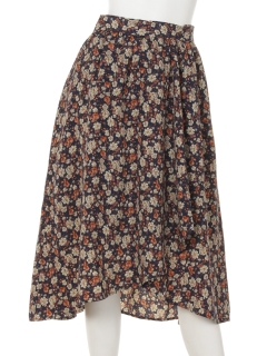 ヘムラインフラワースカート