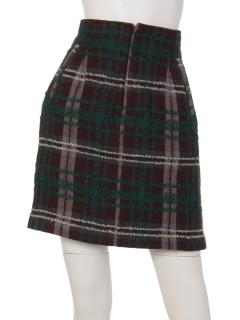 ブークレチェック柄台形スカート
