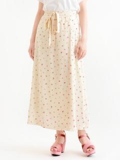 花柄ウエストリボンスカート