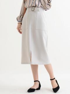 ベルト付Iラインスカート