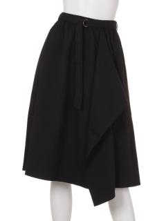 Eアソート柄巻き風スカート