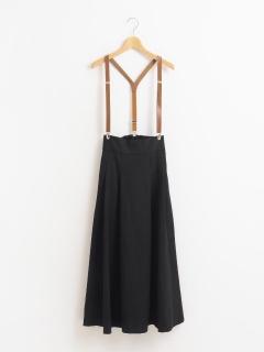 合皮サス付きロングスカート