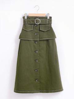 コルセット風ロングスカート