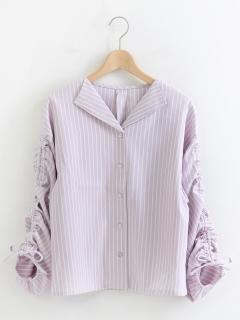 袖ドロストシャツ