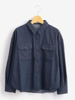 ビッグポケット付シャツ